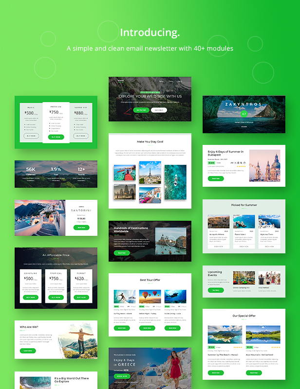 North - Adventure Responsive Email Newsletter Template - 1