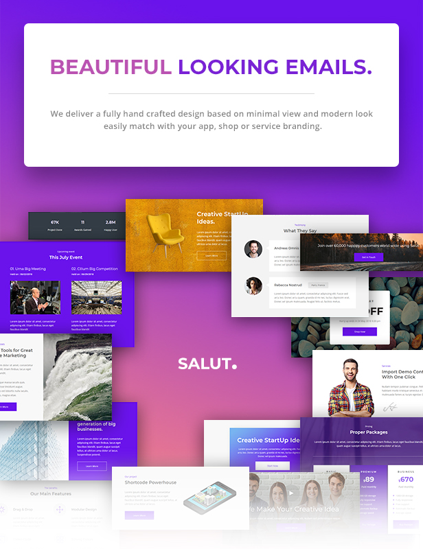 Salut - Professional Agency Email Newsletter Template With Stampready Builder + Mailchimp + Mailster - 3