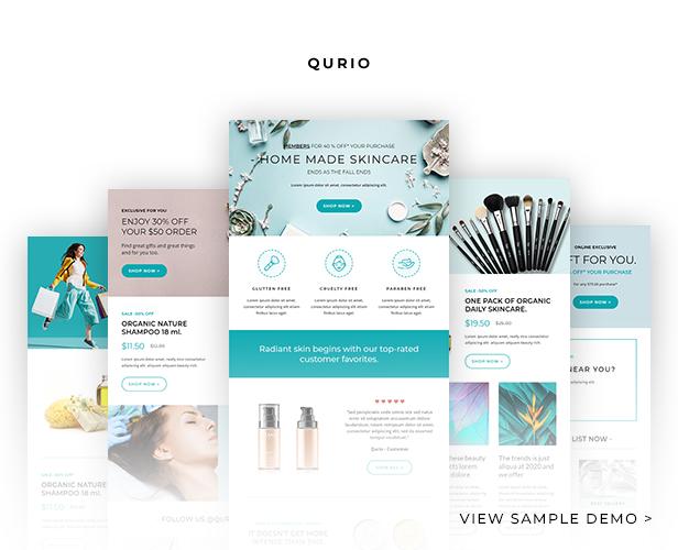 Qurio - Multipurpose Responsive Email Template - 3